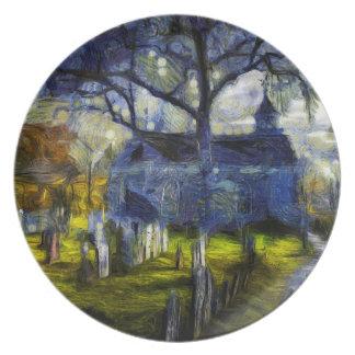 Prato Igreja oca sonolento Van Gogh