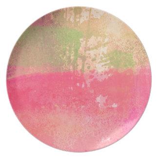 Prato Impressão abstrato da aguarela do Grunge