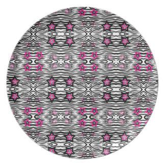 Prato Impressão com estrelas cor-de-rosa - da zebra