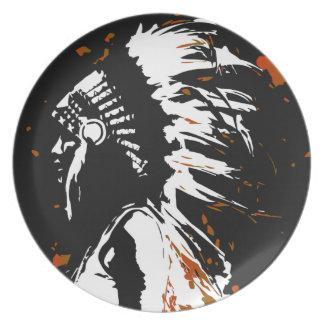 Prato Indiano do nativo americano