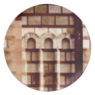 Prato janela marrom do bloco