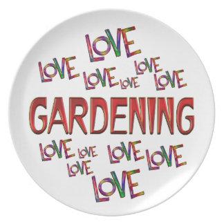 Prato Jardinagem do amor do amor