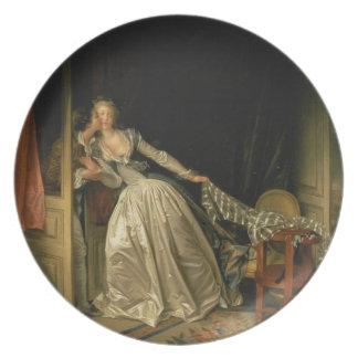 Prato Jean-Honore Fragonard - o beijo roubado - belas
