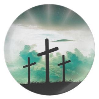 Prato Jesus aumentou (três cruzes)