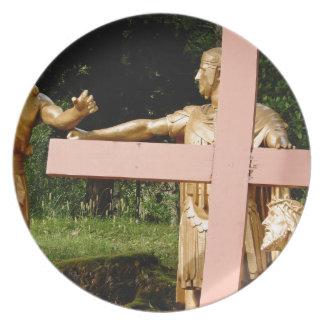 Prato Jesus com cruz
