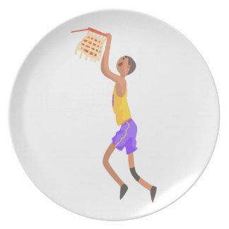 Prato Jogador de basquetebol que pendura na etiqueta da