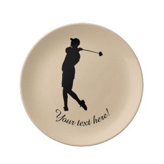 Prato Jogador de golfe