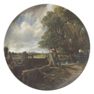 Prato John Constable - o fechamento - paisagem do campo