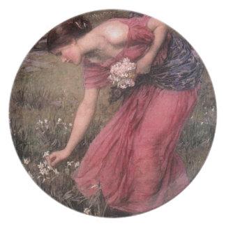 Prato John William Waterhouse - narciso - belas artes