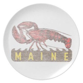 Prato Lagosta do vermelho de Maine