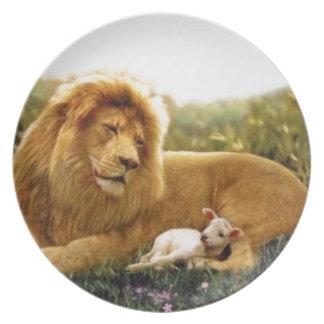 Prato Leão e cordeiro
