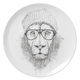 Prato Leão legal (preto e branco)