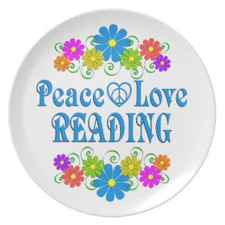 Prato Leitura do amor da paz