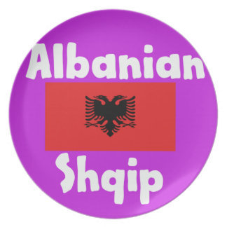 Prato Língua de Albânia e design da bandeira