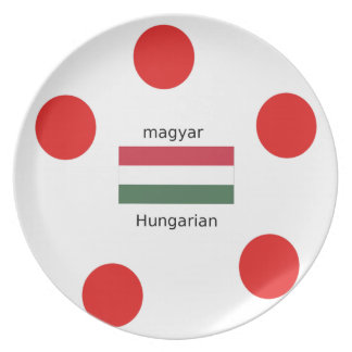 Prato Língua de Hungria e design da bandeira