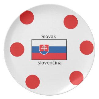 Prato Língua e design eslovacos da bandeira de Slovakia