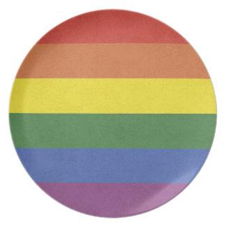 Prato Listras do arco-íris