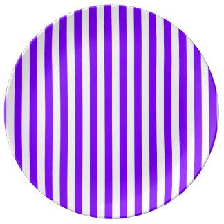 Prato Listras finas - branco e violeta