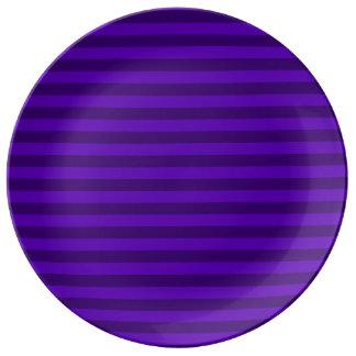 Prato Listras finas - violetas e violeta escura
