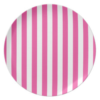 Prato Listras verticais cor-de-rosa