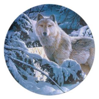 Prato Lobo ártico - lobo branco - arte do lobo