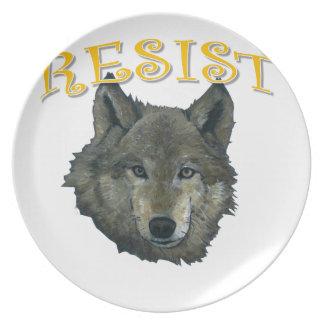 Prato Lobo da resistência