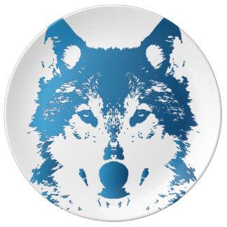 Prato Lobo do azul de gelo da ilustração
