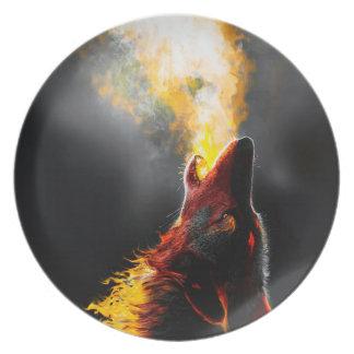 Prato Lobo do fogo