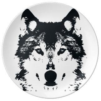 Prato Lobo preto da ilustração