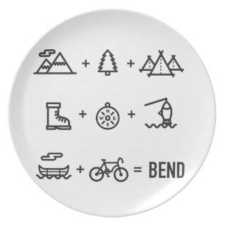 Prato Logotipo da equação das atividades de Oregon da