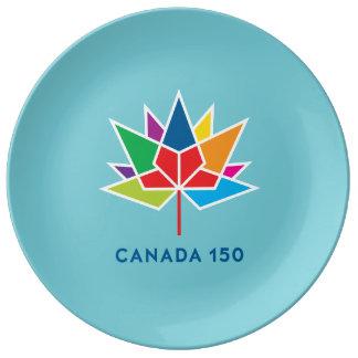 Prato Logotipo do oficial de Canadá 150 - multicolorido