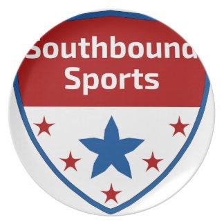 Prato Logotipo Southbound da crista dos esportes