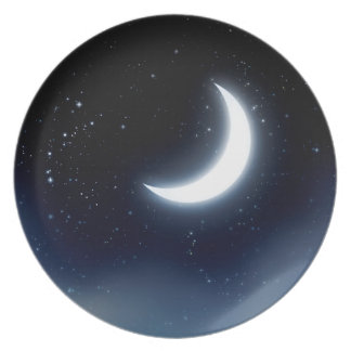 Prato Lua crescente sobre Sky2 estrelado