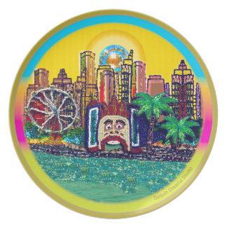 Prato Luna Park Sydney Austrália pelo Sequin sonha o