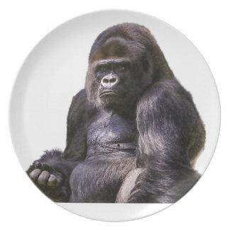 Prato Macaco do macaco do gorila