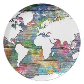 Prato madeira 12 do mapa do mundo