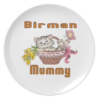 Prato Mamã do gato de Birman