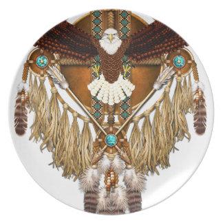 Prato Mandala da águia americana - revisada