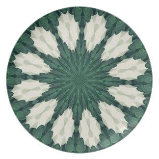 Prato Mandala. da folha verde e de prata de Sacramento