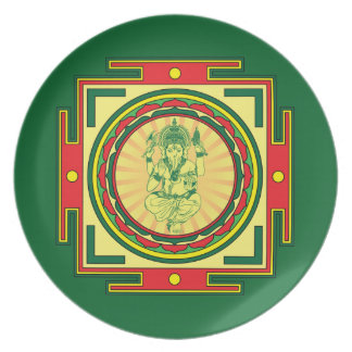 Prato Mandala de Ganesha