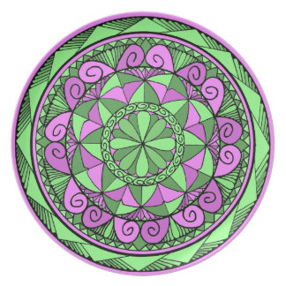 Prato Mandala do índigo