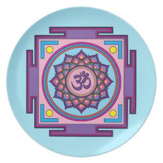 Prato Mandala do OM Shanti OM
