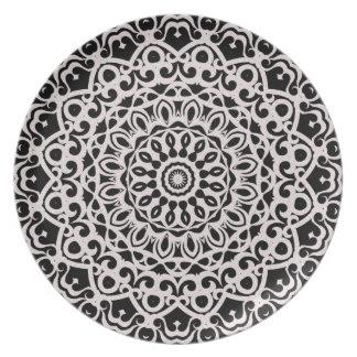 Prato Mandala tribal G385 da placa