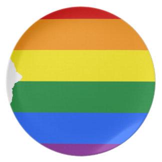 Prato Mapa da bandeira da arizona LGBT
