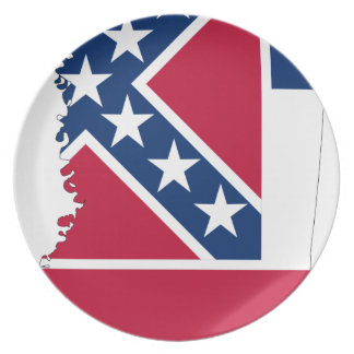 Prato Mapa da bandeira de Mississippi