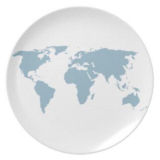 Prato Mapa do mundo