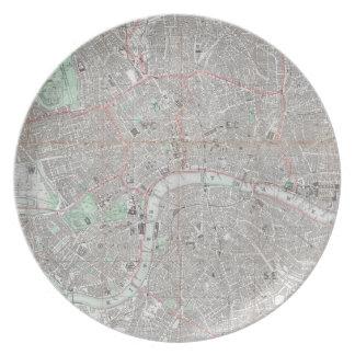 Prato Mapa do vintage da cidade de Londres