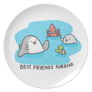 Prato Melhores amigos para sempre!