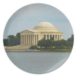 Prato Memorial de Jefferson no Washington DC