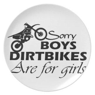 Prato menina da bicicleta da sujeira